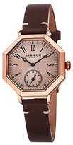 Akribos XXIV Women's AK771RGBR Quartz Movement Watch with Brown Dial and Brown Calfskin Leather Strap