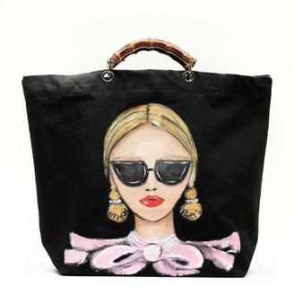 Utmon Es Pour Paris Parisienne Medium Shopper in Black/Pink