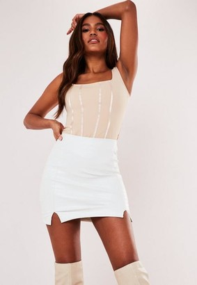 Missguided Mock Croc Faux Leather Mini Skirt