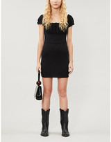 KENDALL + KYLIE Pacsun PacSun x Kendall & Kylie puff-sleeved stretch-crepe mini dress
