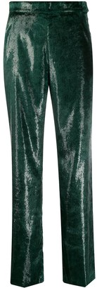 Patrizia Pepe high waisted textured trousers