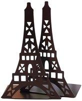 Julvie Eiffel Tower Design Nonskid Heavy Gauge Steel Bookends Art Bookend,1 Pair