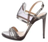 Reed Krakoff Embossed Metallic Sandals