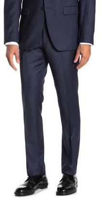 John Varvatos Navy Grid Wool Suit Separates Trousers