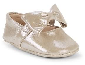 Elephantito Baby Girl's Leather Bow Ballerina Shoes