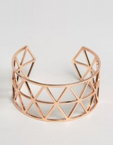 NY:LON Geo Cut Out Cuff Bracelet