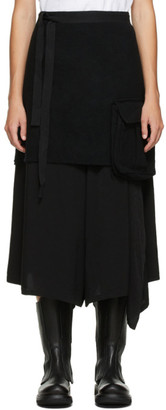 Undercover Black Wool Apron Skirt