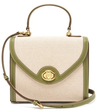 Mark Cross Valentina Monogram Canvas Handbag - Khaki Multi