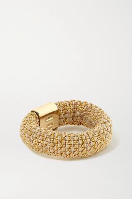 Carolina Bucci Slide 18-karat Gold And Silk Ring