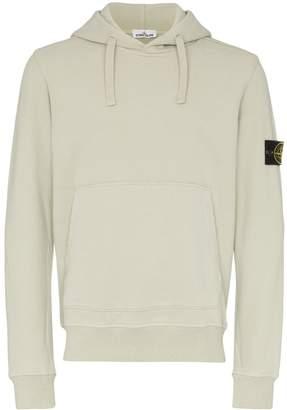 Stone Island logo-patch hoodie
