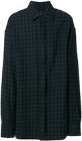 Ann Demeulemeester checked shirt - men - Linen/Flax/Wool - S