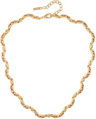 Susan Caplan Vintage 1980s Vintage Dorlan Jewel Swarovski Crystal Necklace