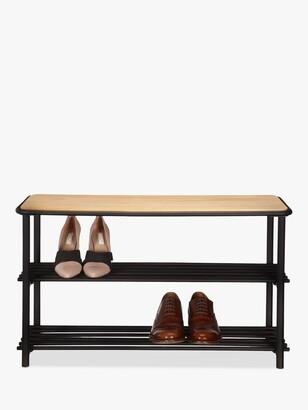 John Lewis & Partners 2 Tier Metal Shoe Bench