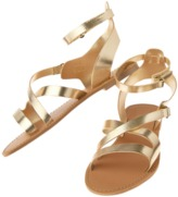 Crazy 8 Metallic Strappy Sandals