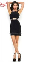 Mac Duggal Keyhole Jewel Cocktail Dress