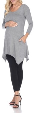 White Mark Maternity Kayla Tunic Top