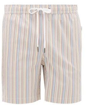 Onia Charles Striped Swim Shorts - Mens - Multi