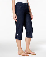 Karen Scott Petite Denim Capri Pants, Only at Macy's