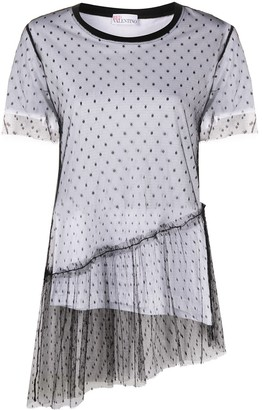 RED Valentino tulle overlay T-shirt
