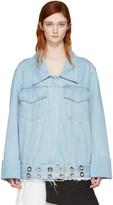 Marques Almeida Blue Denim Oversized Belted Jacket