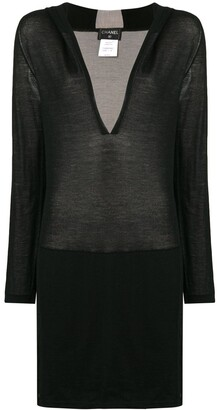 Chanel Pre Owned Deep V-Neck Sweater