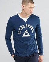 Le Coq Sportif Large Logo LS T-Shirt In Blue 1620580