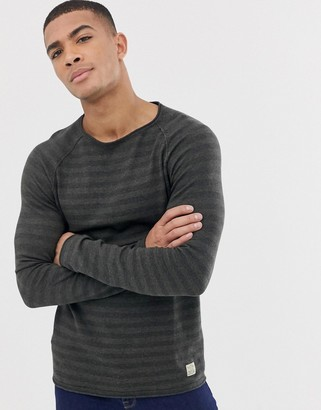 Jack and Jones originals striped knit with raglan sleeve