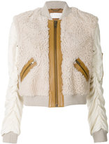 Chloé zipped shearling jacket - women - Lamb Skin/Polyester/Viscose/Wool - 34