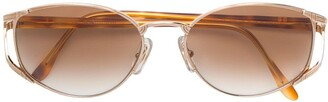 Ungaro Pre-Owned metal frame sunglasses
