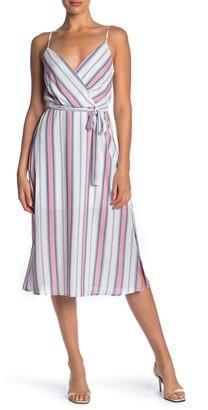 Rowa Stripe Print Midi Dress