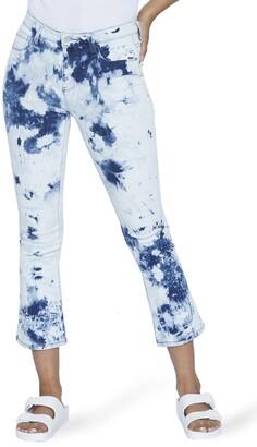 WASH LAB Baby Flare Crop Jeans