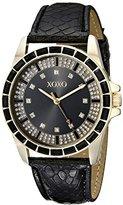 XOXO Women's XO3416 Analog Display Analog Quartz Black Watch