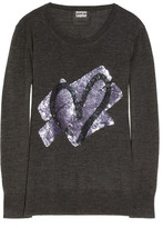 Markus Lupfer Heart sequin-embellished merino wool sweater