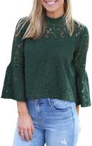 BB Dakota Green Lace Top