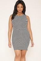 Forever 21 FOREVER 21+ Plus Size Chevron Dress