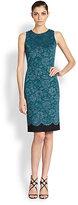 St. John Lace-Print Dress