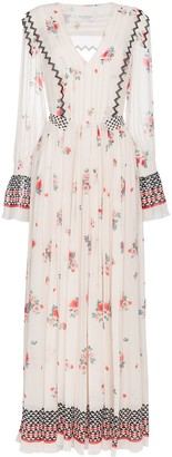 Philosophy di Lorenzo Serafini V-neck floral print pleated dress