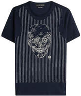 Alexander McQueen Embroidered Cotton T-Shirt