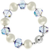 SPARKLE ALLURE Dazzling Designs Simulated Pearl and Crystal Bead Bracelet