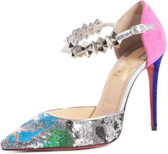Christian Louboutin Planet Chic Embellished d'Orsay Pump