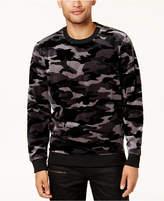 GUESS Men's Velvet Camo Sweatshirt