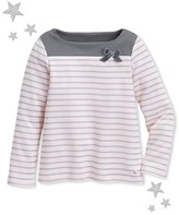 Petit Bateau Girls marinière top with lurex stripes