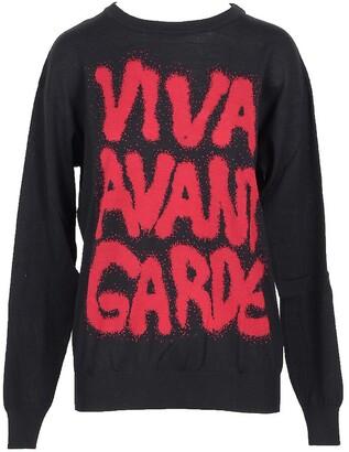 Jeremy Scott Viva Avant Garde Black Cotton Women's Sweater