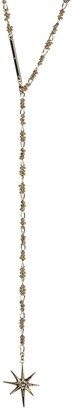 Rebecca Minkoff Gold Plated Brass Crystal Accented Star Y-Drop Necklace