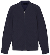 Jaeger Quilted Bomber Jacket, Navy