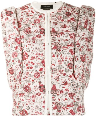 Isabel Marant Adiena padded floral-print gilet