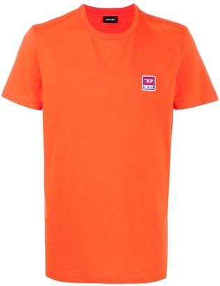 Diesel logo patch crewneck T-shirt