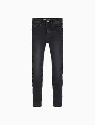 Calvin Klein Skinny Fit High Rise Chalk Black Jeans