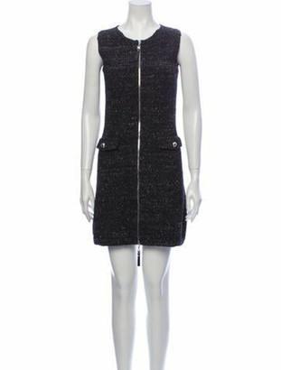 Louis Vuitton Crew Neck Mini Dress Grey