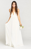 MUMU Ava Maxi Dress ~ Wedding Cake Chiffon